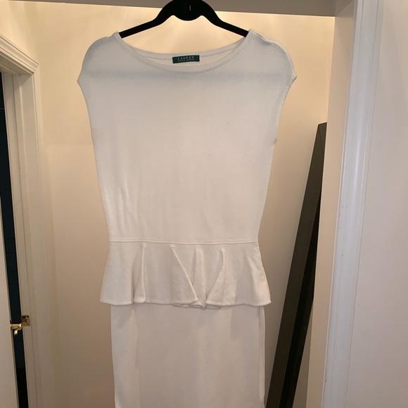 Lauren Ralph Lauren Dresses & Skirts - Cream sleeveless peplum knee length dress.
